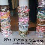 イタリアで大流行のレザーブレスレット「We Positive」☆福山「モンナカムラ」で受注開始!