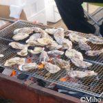 水呑Cafe Boneu 三周年感謝祭!岡崎丸の岡崎さんが焼く牡蠣祭り!