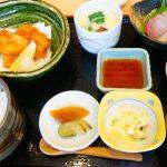 福山市松永『季節料理 光哉 』de鮮度抜群の鱧カツ昼定食&穴子押寿司