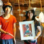 尾道市因島『チイサイカイシャ』de矢野ミチル 画伯の絵画と「知覚の結露ーLEE HoChouL個展」