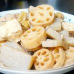 京風ほっこり薄味☆朝掘り蓮根とコンニャクの煮物レシピ