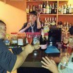 尾道市栗原町『九鬼BAR』deミサカくんお誕生祝二次会、モエピンで乾杯!
