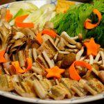 尾道鍋研究会☆2016年9月例会「穴子鍋」、ふっくら柔らかくて甘い穴子と、でべらピンチョス!