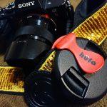 レンズキャップ紛失防止!SONY デジタル一眼『α7II』へ『hufa レンズキャップクリップ』装着!