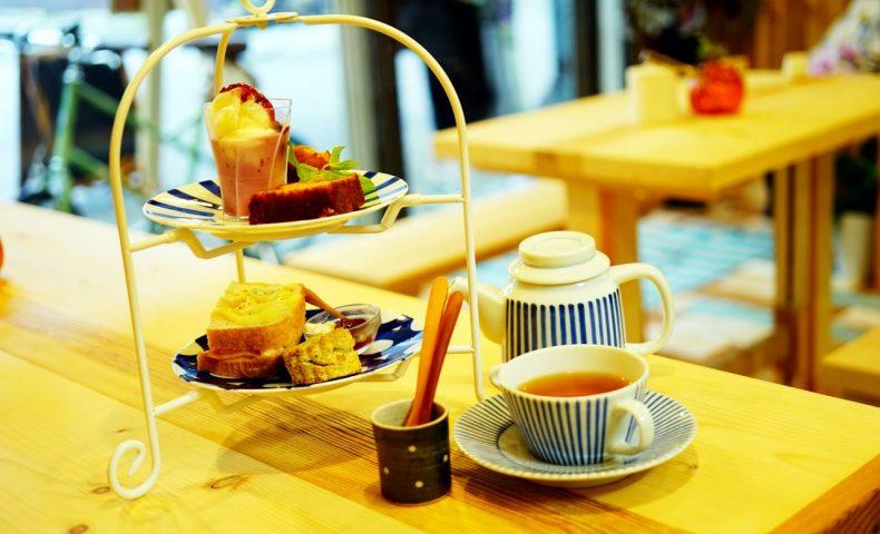 尾道商店街の紅茶専門店『CAFEしましま』再訪問、アフタヌーンティセットは可愛く美味しくボリューミー♪
