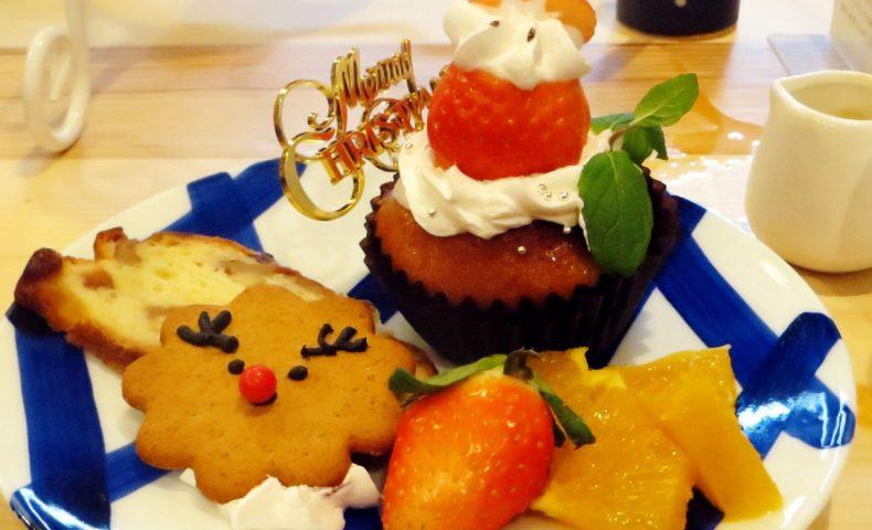 尾道商店街の紅茶専門店『CAFEしましま』5回目訪問。クリスマスプレートがめっちゃ可愛い!