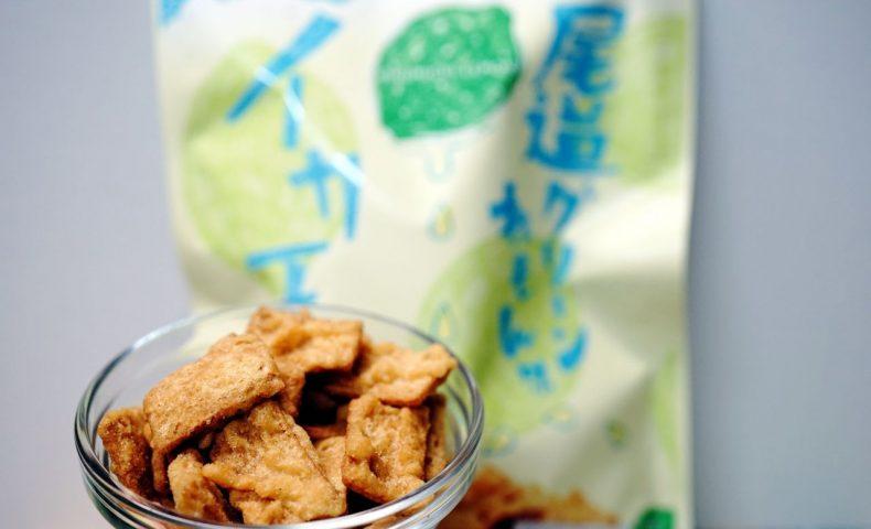 尾道『まるか食品』100万パック数量限定発売!「尾道グリーンれもん味イカ天」、青いレモンの酸味と香りが爽やか♪