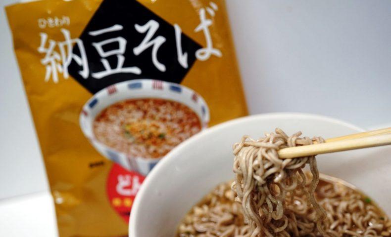 ひきわり納豆好きにオススメ!『どんぶり麺 ひきわり納豆そば』納豆と蕎麦が相性抜群で、あっさり美味しい!