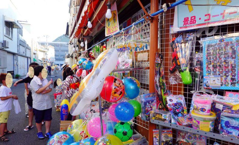 「2018宮島さん協賛 いんのしま水軍花火大会」開催!土生商店街の夜店も花火も多くの人で賑わっていました。
