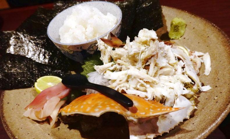 尾道市向島町『居酒屋せいちゃんち』わたり蟹、カワハギ、シメサバに、秋酒が最高でした♪