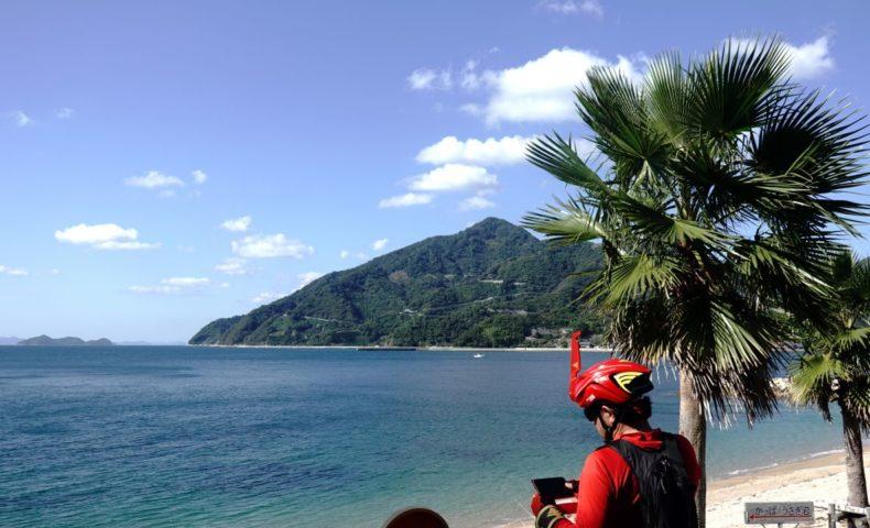 安芸灘とびしま海道サイクリング 岡村港~県民の浜往復 約42.5kmライド