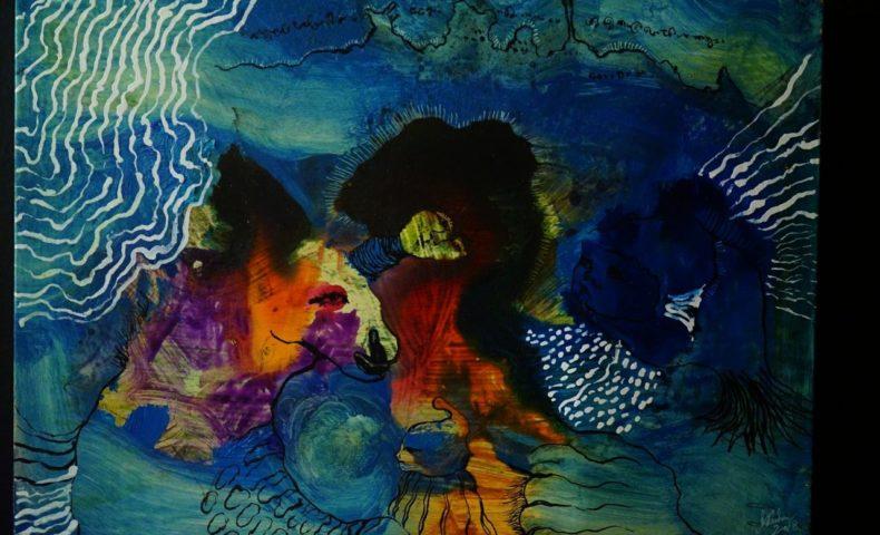 矢野ミチル画伯個展「夜の色をあげる」開催@尾道市因島土生町『しまなみカレー ルリヲン』