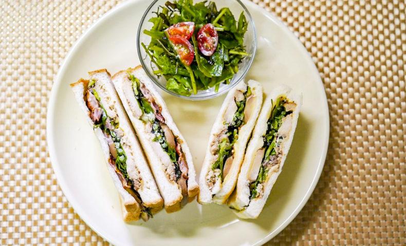 胸肉やわらか鶏チャーシュー&ミーシャンズ野菜で、大人好みなサンドイッチのレシピ♪