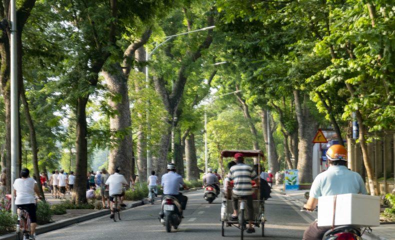 【2019ハノイ-8】シクロ初体験!旧市街地とホアンキエム湖周辺をゆっくり散策♪