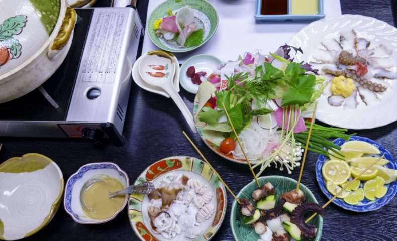尾道鍋研究会☆2019年11月例会「タコしゃぶ」これでもかのタコ尽くし@日本料理まきの