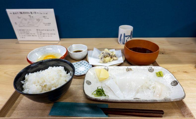 尾道市瀬戸田のアオリイカ専門店『食堂あおり』にて激旨いかサイクリングランチ♪