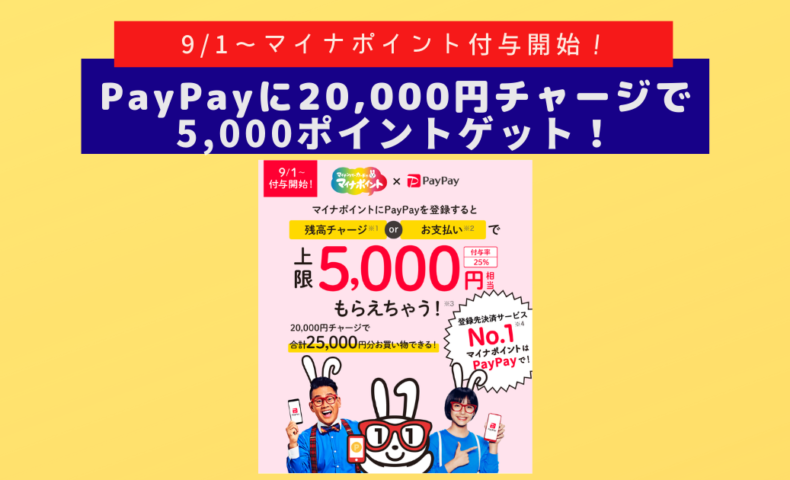 "<span class=""title"">2020/9/1開始「マイナポイント事業」PayPayで即時に5,000円相当ポイント獲得するには?(図解付)</span>"